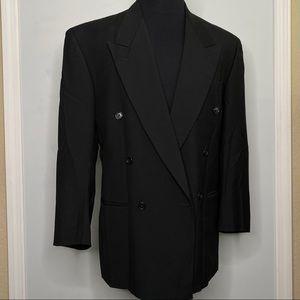 Zanetti men's black double breasted coat